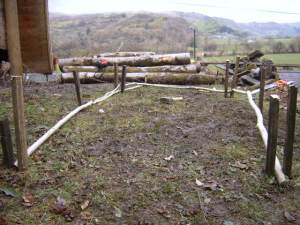 laying poles
